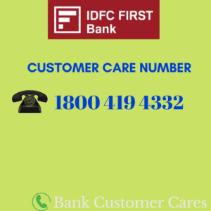 IDFC First bank customer care number