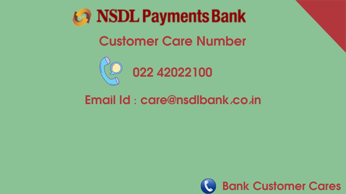 NSDL Payment Bank Customer Care Helpline Number
