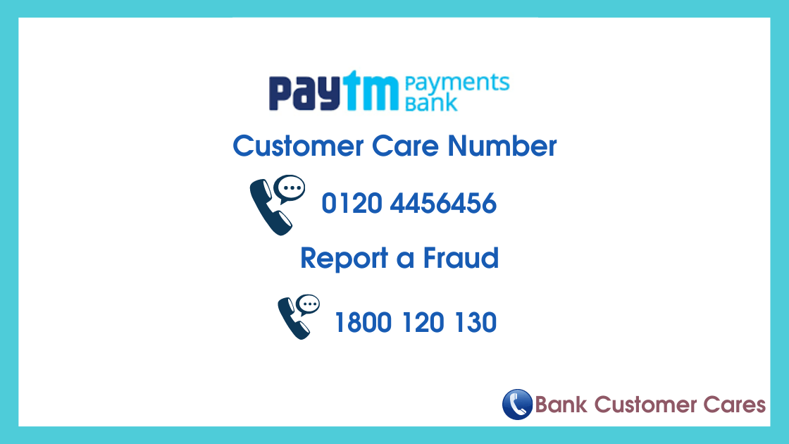 Paytm Payments Bank Customer Care Helpline Number